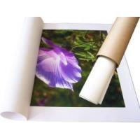 Buy cheap Waterproof  Self Adhesive Inkjet Paper Rolls , Inkjet Synthetic Paper 150gsm product
