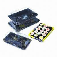 Buy cheap Sushi Container with good anti-fog treatment product