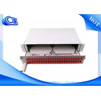 Buy cheap PP - FC 48 Port Optical Fiber Patch Panel Fixed & Sliding Type For FTTH product