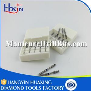 White Zirconia Ceramic Dental Burs , Ball Bullet Barrel Tapered Dental Accessories