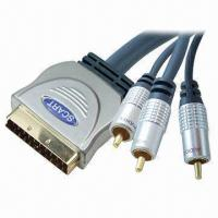 Buy cheap SCART Plugs for SCART-3RCA Cable Assemblies with Metal Shell Plugs, 4, 5, and 6mm Outer Diameter product