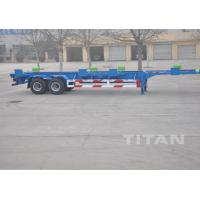 Buy cheap 2 axle 40 ft terminal chassis trailer Skeletal container Trailer - TITAN VEHICLE product