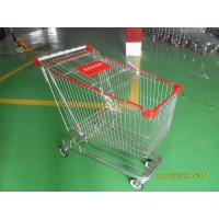 180 Liter Supermarket Shopping Trolley German Style With Base Grid