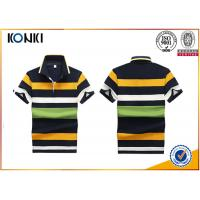 Buy cheap 200 Grams 100% Cotton Stripes Print Style Customized Embroidered Polo Shirts For Mens product