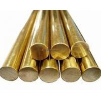 Buy cheap Flat Round Solid Brass Bar / Copper Round Rod Polish Surface Finish Optional Shape product