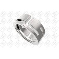 China Engravable Stainless Steel Rings For Men , Full Shiny Polished Wedding Ring on sale