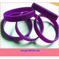 Quality wholesale price silicone bracelet with debossed logo for sale
