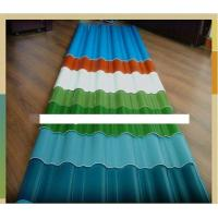 Buy cheap Colored Corrugated Carbon Steel Coil Roofing Sheet / Panel , AISI , ASTM product