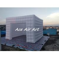 Buy cheap custom giant wedding party event decoration led inflatable photo booth hire with air blower for sale product
