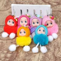 Buy cheap Wholesale 8CM fan paste hair doll phone pendant doll plush doll product