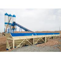 Buy cheap Ready Mixed Ready Mix Concrete Plant Stationary Belt Conveyor With Twin Shaft Mixer product