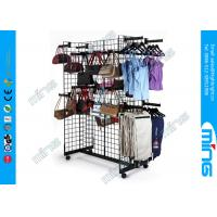 Buy cheap Black Rectangle Gridwall Display Racks Faceouts For Clothing Display product