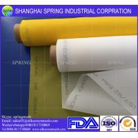 China 77T High Stability Monofilament Polyester Screen Mesh , White Mesh Roll Anti - Friction on sale