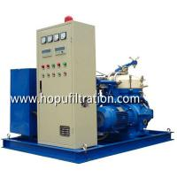 Buy cheap Heavy Fuel Oil Purifier, Portable Oil Water Centrifuge Separator Machine HFO treatment dehydration particles elimination product