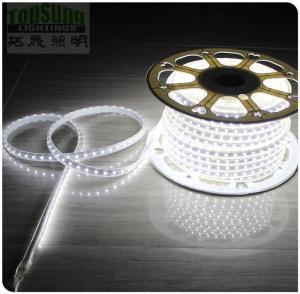 Buy cheap 50m high CRI waterproof flexible led strip light 5050 smd 240VAC white strips ribbon product