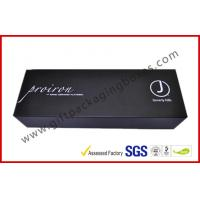 China Black Curlers Electronics Packaging Boxes , Coated Paper Packaging Box With Corrugated Paper Stand on sale