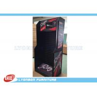 Buy cheap Black MDF Bicycle Accessories Display Stand Sticked With Ads / PET Boards product