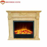Buy cheap High Durability Natural Stone Fireplaces , Beige White Marble Fire Surround product