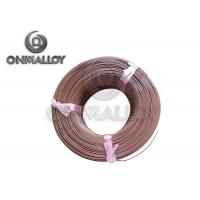 China PTFE insulation Thermocouple Cable Type T 24 AWG 20 AWG Brown Color on sale