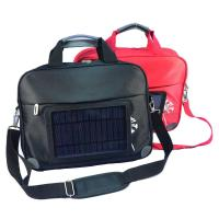 China Waterproof  Nylon Laptop Solar Charging Backpack With USB Battery Backup on sale