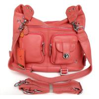 Lady Style 100%Great Leather Pink Versatiled Shoulder Bag Backpack Handbag #2358