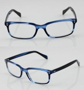 Buy cheap Fashion Acetate Mens Eyeglasses Frames, Blue Handmade Acetate Eyewear Frames product