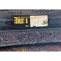 Buy cheap optic fiber 64*48 Resolution rate Iron / Steel Outdoor Full-color stadium Led display product