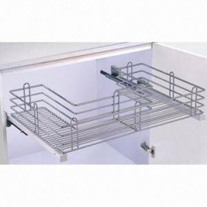 under sink pull out basket kitchen cabinet organizer storage with soft closing 97614831. Black Bedroom Furniture Sets. Home Design Ideas