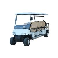 China Pure White Color Golf Sightseeing Car Electric Powered Golf Carts With 6+2 Sofa Seats on sale