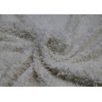 Buy cheap White Flocking Leather Handfeeling High Elasticity Plush Leather Fabric product