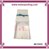 Buy cheap Customized White Origami Clothing Gift Boxes Deboss Logo ME-FD022 product