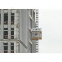 Buy cheap Yellow Vertical Lifting Materials 450m Construction Hoist Elevator product