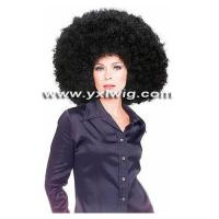 Quality Black Heavy Fans Wig for sale