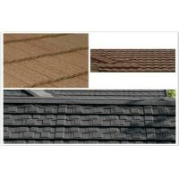 ECO Classic Aluminum / Zinc Colorful Stone Coated Metal Roof Tiles for building mansion
