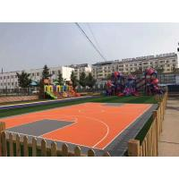 Buy cheap Smellless Safety 100% PP Flooring Squares Interlocking For School Playground product