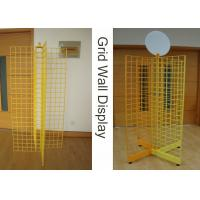 Buy cheap Four Way Metal Wire Retail Display Racks , X Shape Wire Grid Display Stands from wholesalers