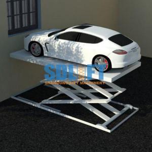 China 3T 5.6M Hydraulic Scissor Car Lift For Home Garage Portable / Heavy Duty Scissor Lift Table on sale