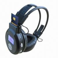 Buy cheap New Foldable Wireless Headphones with SD MCC Card Reader/Built-in Rechargerble Lithium Battery product