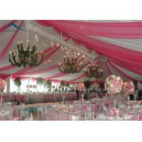 China European Style Wedding Reception Tent Waterproof Canopy Tent PVC Fabric on sale