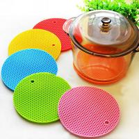 Buy cheap Multipurpose Round Honeycomb Silicone Pot Holders Colorful Silicone Table Mat product