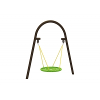 Buy cheap Garden 100cm Kids Play Swing Set With Round Swing Seat from wholesalers
