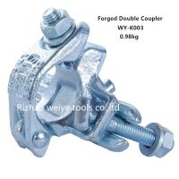 China Q235 Double Forged Coupler For Connecting 2 Tubes / Pipe Clamps UK Type EN74 on sale