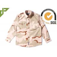 Quality 3 Color Desert Combat Tactical Shirt , Woodland Digital Law Enforcement Shirts for sale
