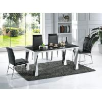 Buy cheap Modern Black Marble Rectangle Dining Table with Chairs Dining Furniture Factory Wholesale product