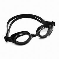 Buy cheap Anti-fog Swimming Goggles with Soft Silicone Strap and 100% UV Protection from wholesalers
