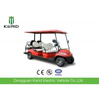 Buy cheap Red Color Electric Golf Carts 6 Passenger Vehicle With 4 Front Seats + 2 Rear Seats product