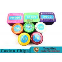 Buy cheap Casino Crystal Personalized Poker Chips SetWith Multi - Color Can Be Choosed product