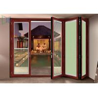 Buy cheap Double Glazed Aluminium Folding Doors Soundproof Energy Saving With Built In Blinds product