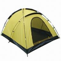 Buy cheap Lightable Family Hiking/Camping Tent for 1 to 3 Persons, with 1 door product
