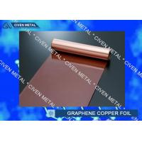 China Rolled Copper Foil For Graphene 400mm 600mm Width , Thin Copper Sheets on sale